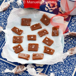 Soft Vanilla and Pink Salt Caramels