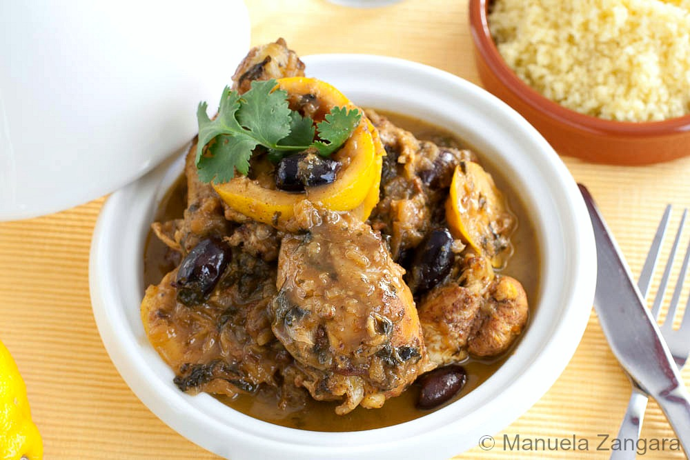 Lemon Chicken Tajine with Olives