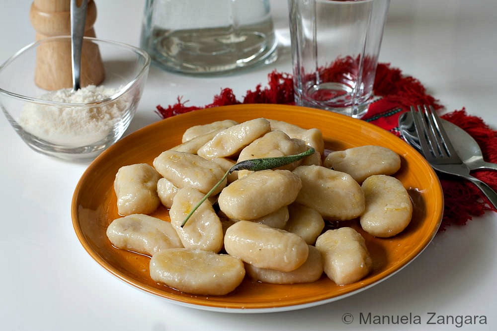 Gorgonzola filled Potato Gnocchi with Butter and Sage