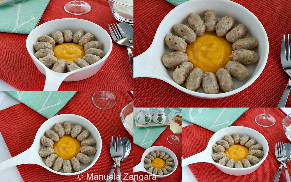 Bread Malfatti with Butter and Pumpkin Cream