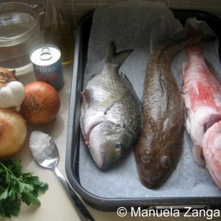 FISH BROTH WITH GARLIC CROSTINI