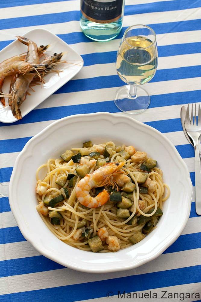 Prawn and Zucchini Spaghetti