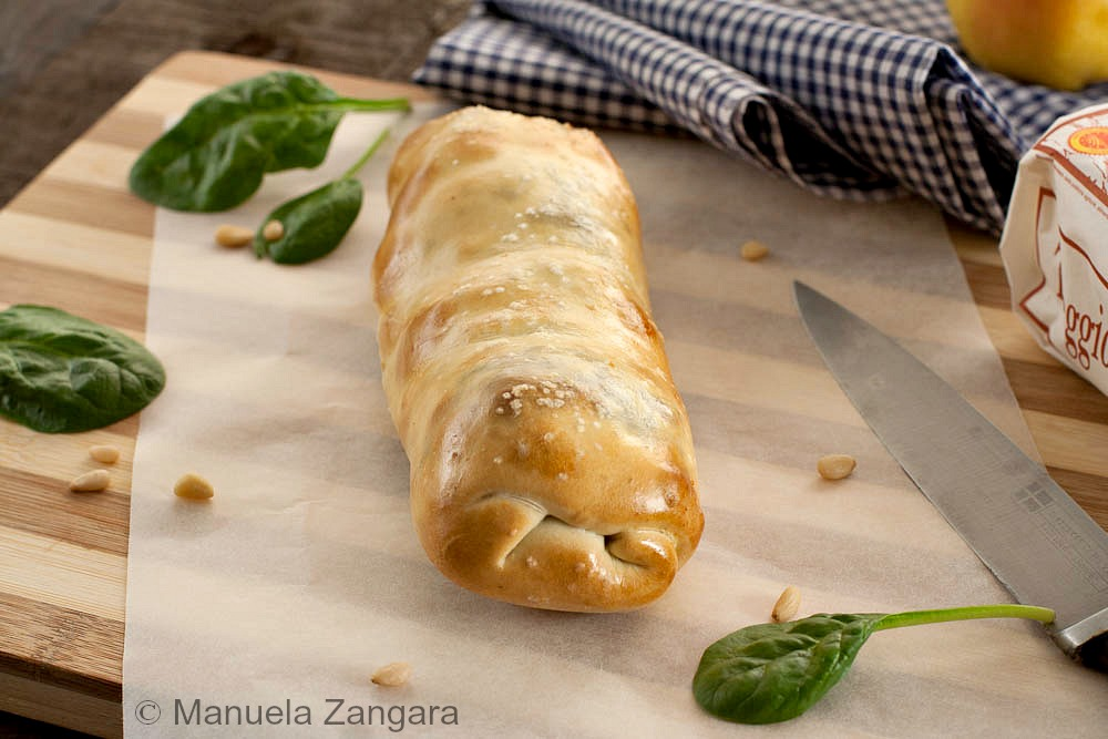 Spinach, Pear and Taleggio Strudel