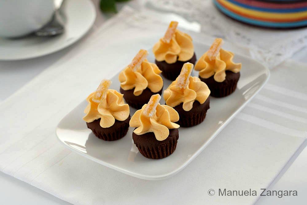 Chocolate and Orange Mini Cupcakes