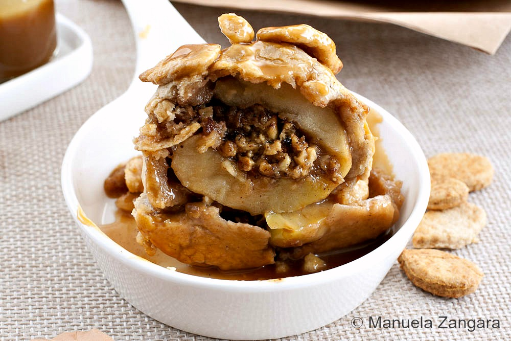 Baked Apples en croute with Butterscotch Sauce