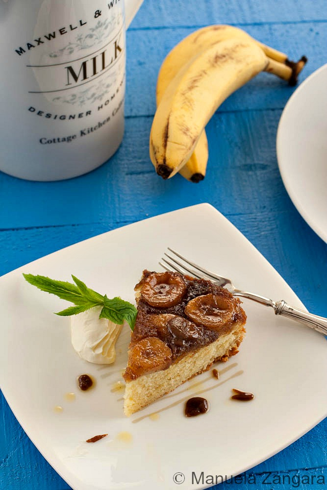 Spiced Banana Upside Down Cake