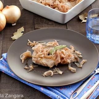SWEET AND SOUR TUNA WITH ONIONS