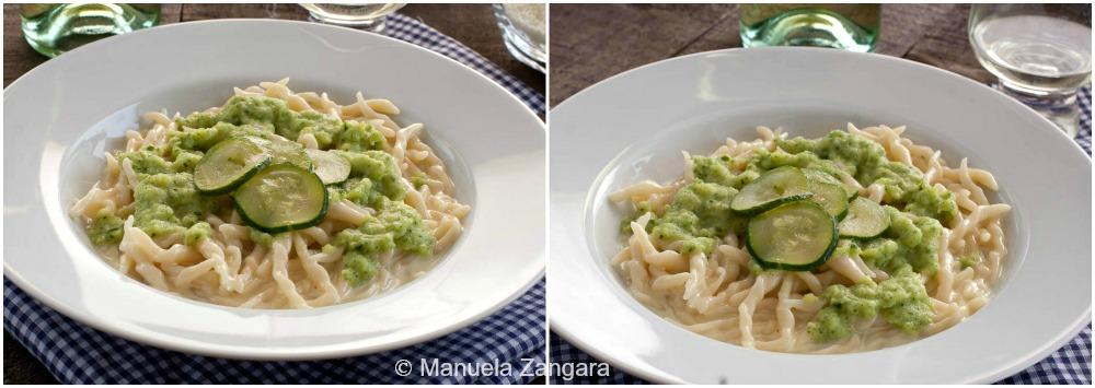 Trofie with Zucchini and Taleggio