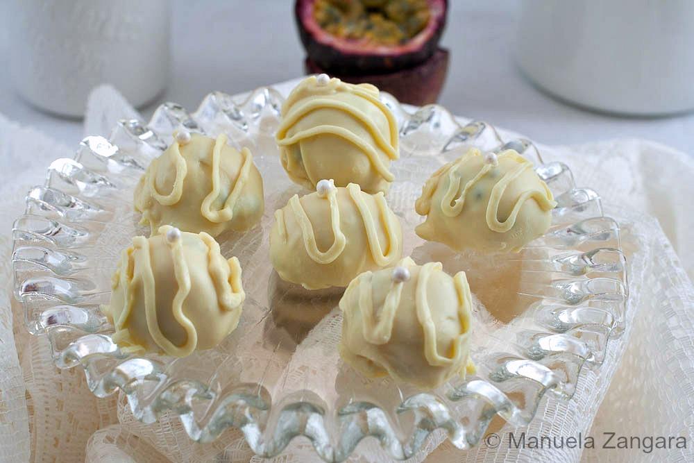 White Chocolate Passion fruit Truffles