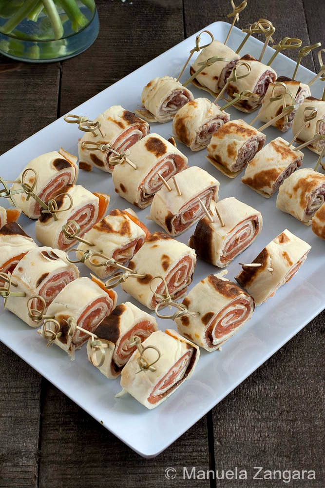 Smoked Salmon and Prosciutto Crespelle Snails