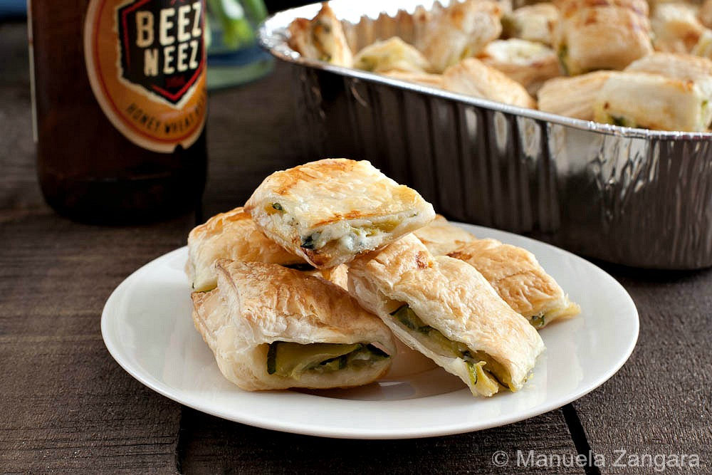Zucchini and Blue Cheese Savoury Pastries
