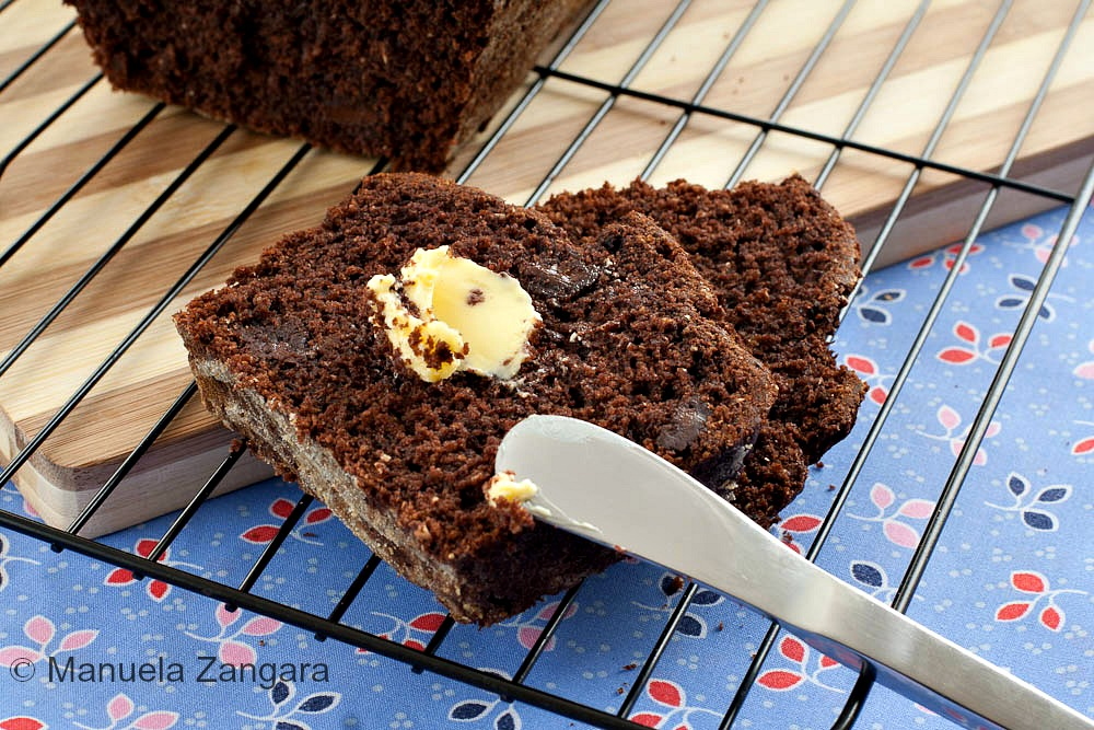 Double Chocolate Whole Wheat Banana Bread