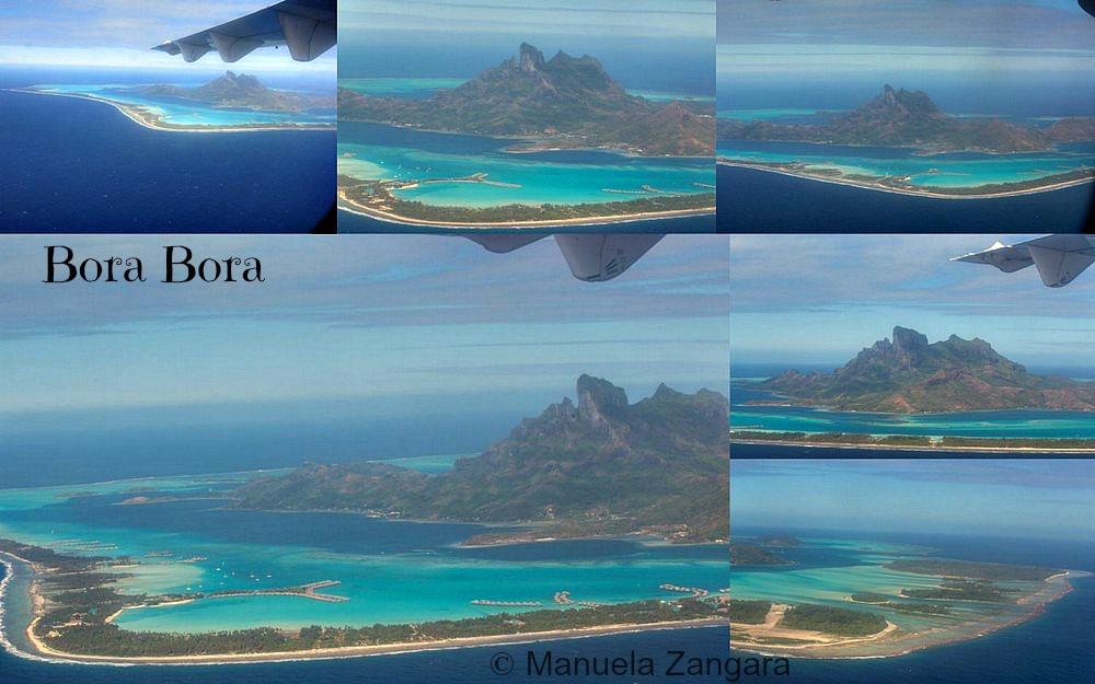 Bora Bora from plane