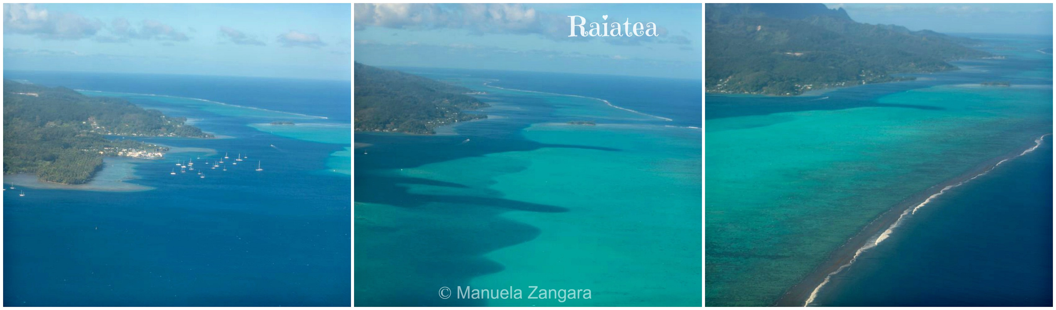 Raiatea from plane