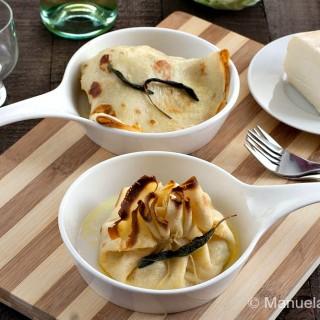 Cabbage and Taleggio Crespelle