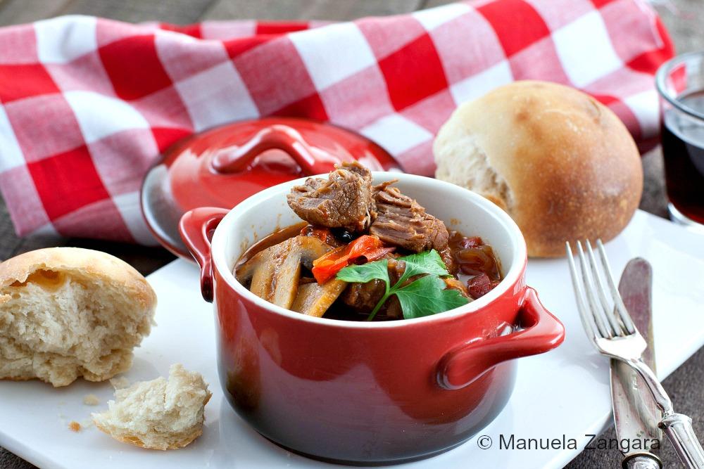 Capsicum and Mushroom Beef Stew