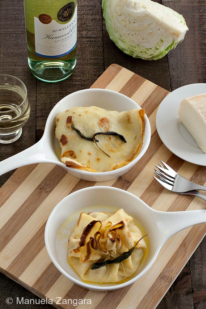Cabbage and Taleggio Crespelle