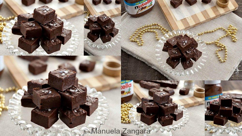 Salted Nutella Chocolate Fudge