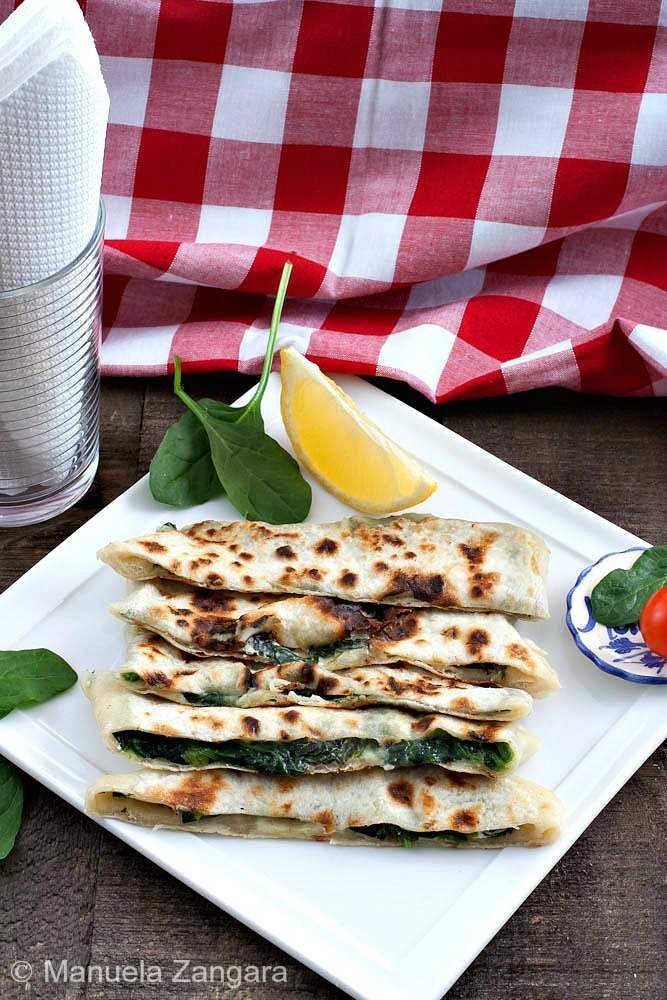 Spinach and Feta Gozleme