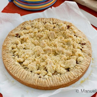 Apple Crostata with Streusel Topping