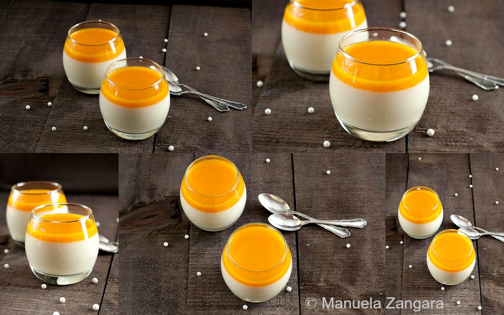 Jasmine and Mango Panna Cotta