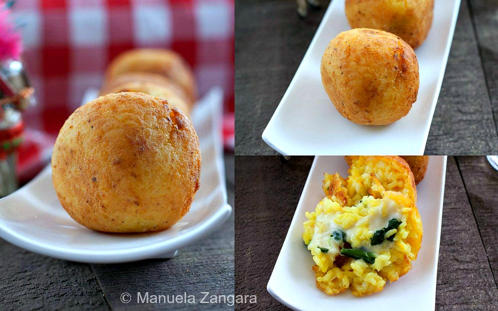 Arancine with Spinach