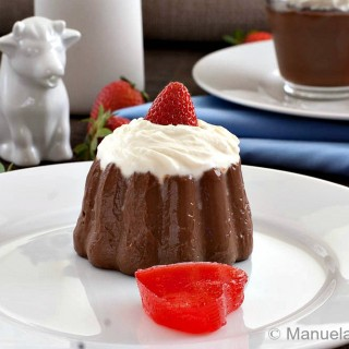 Chocolate Budino with Strawberry Hearts #SundaySupper
