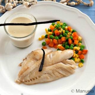 Fish fillet with Tahitian Vanilla Sauce