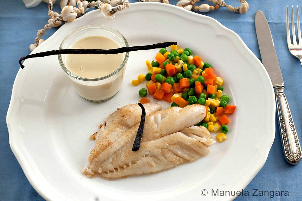 Fish fillet with Tahitian Vanilla Sauce