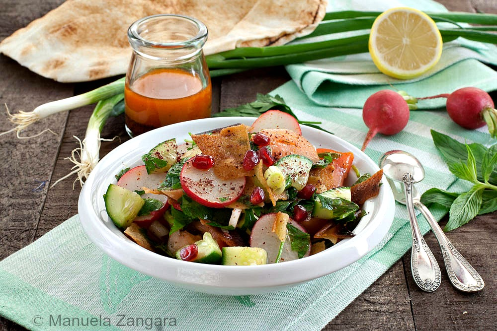 Fattoush with Sumac Dressing
