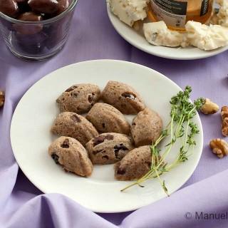Olive and Walnut Madeleines