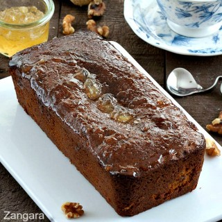 Sticky Ginger Marmalade Tea Loaf