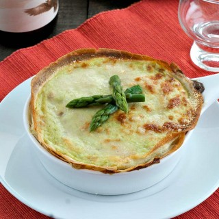 Crespelle Cake with Asparagus