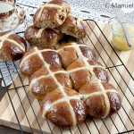 Hot Cross Buns with Honey Butter