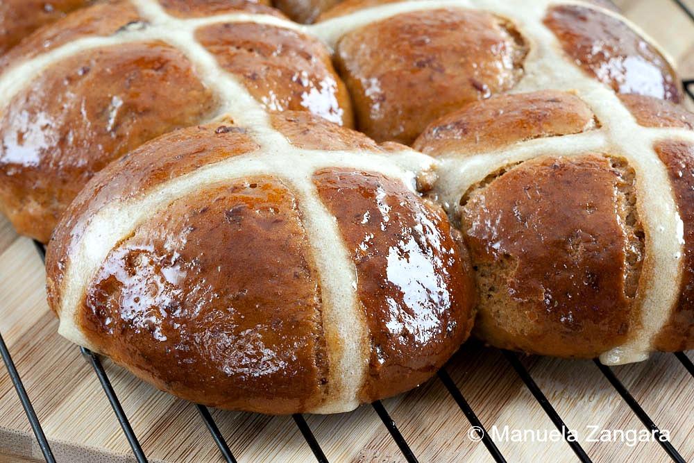 Hot Cross Buns with Honey Butter