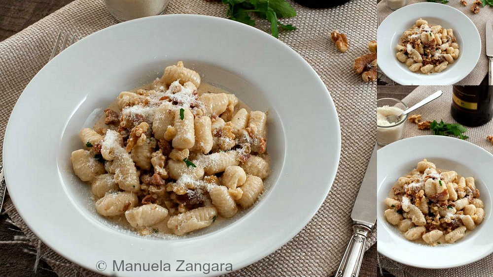 Malloreddus with Walnuts and Prosciutto