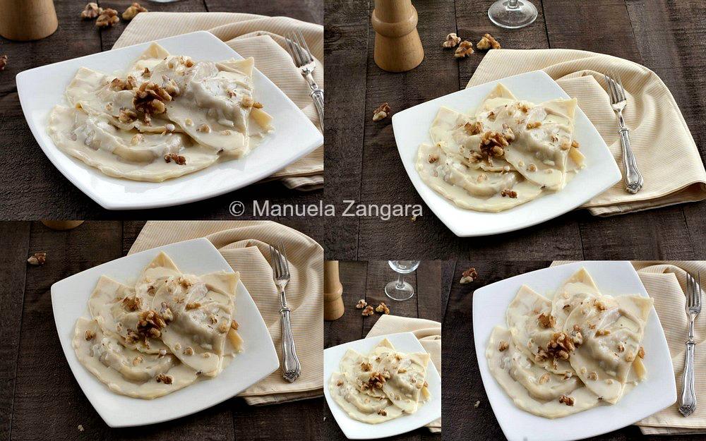Taleggio and Walnut Mezzelune with Parmigiano Reggiano Fondue