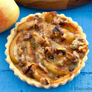 Stilton, Apple and Walnut Tarts