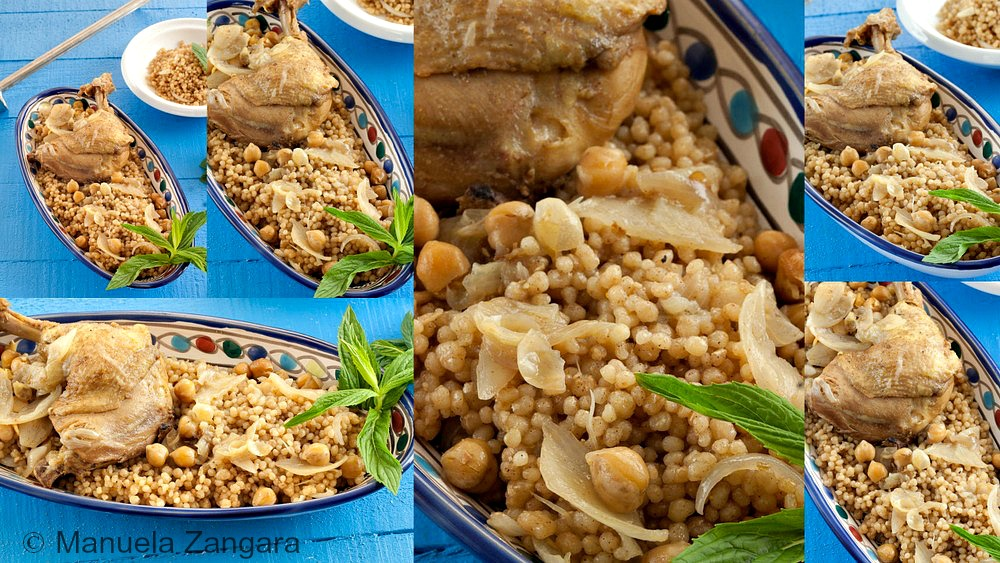 Maftoul with Chicken