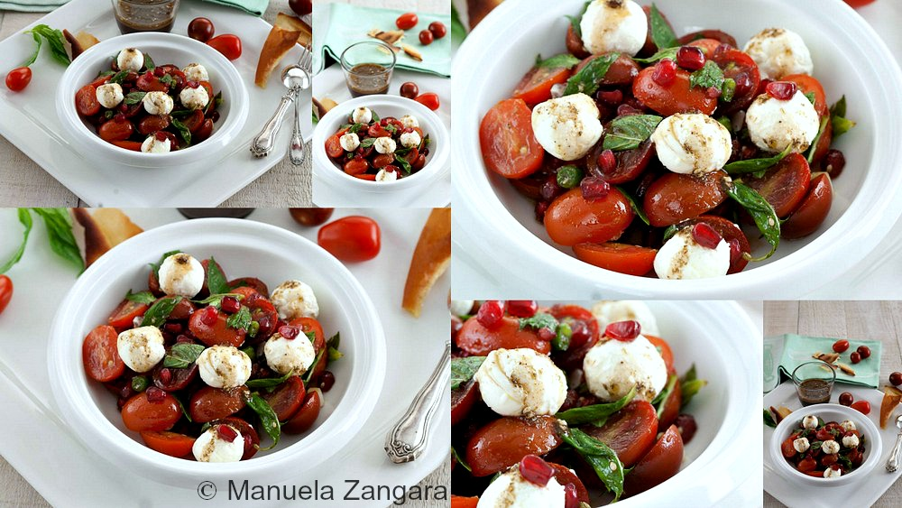 Tomato and Labneh Salad with Pomegranate Dressing