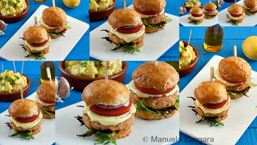 Salmon Sliders with Aioli