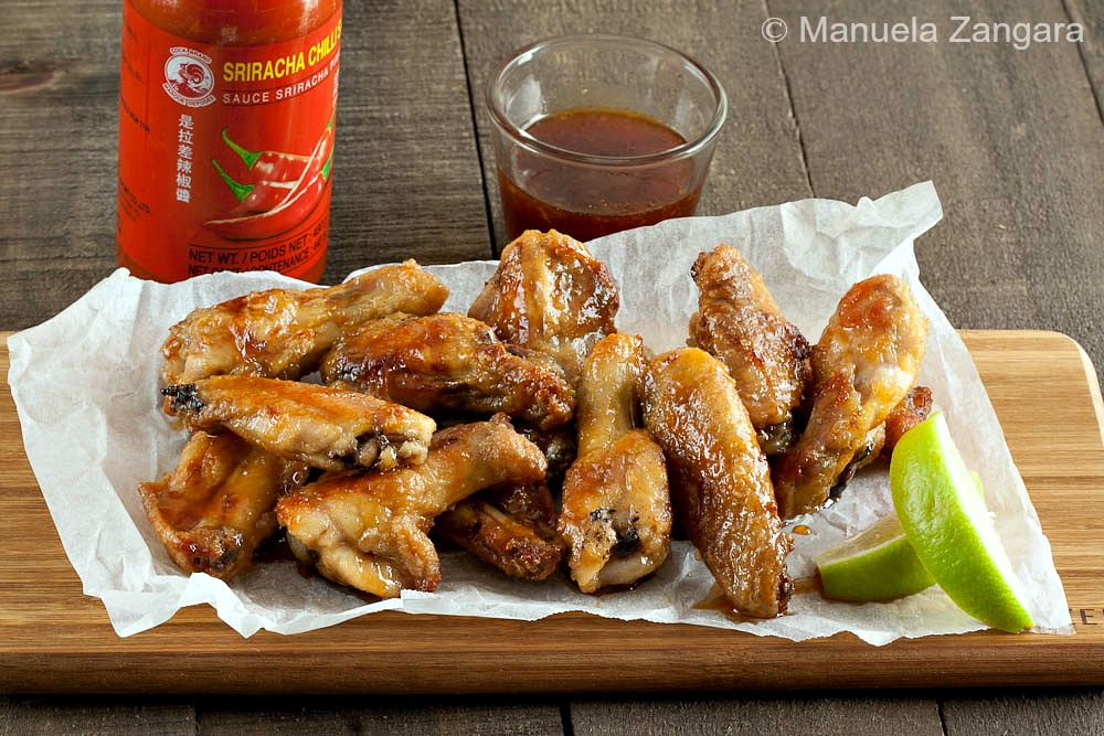 Maple and Sriracha Chicken Wings