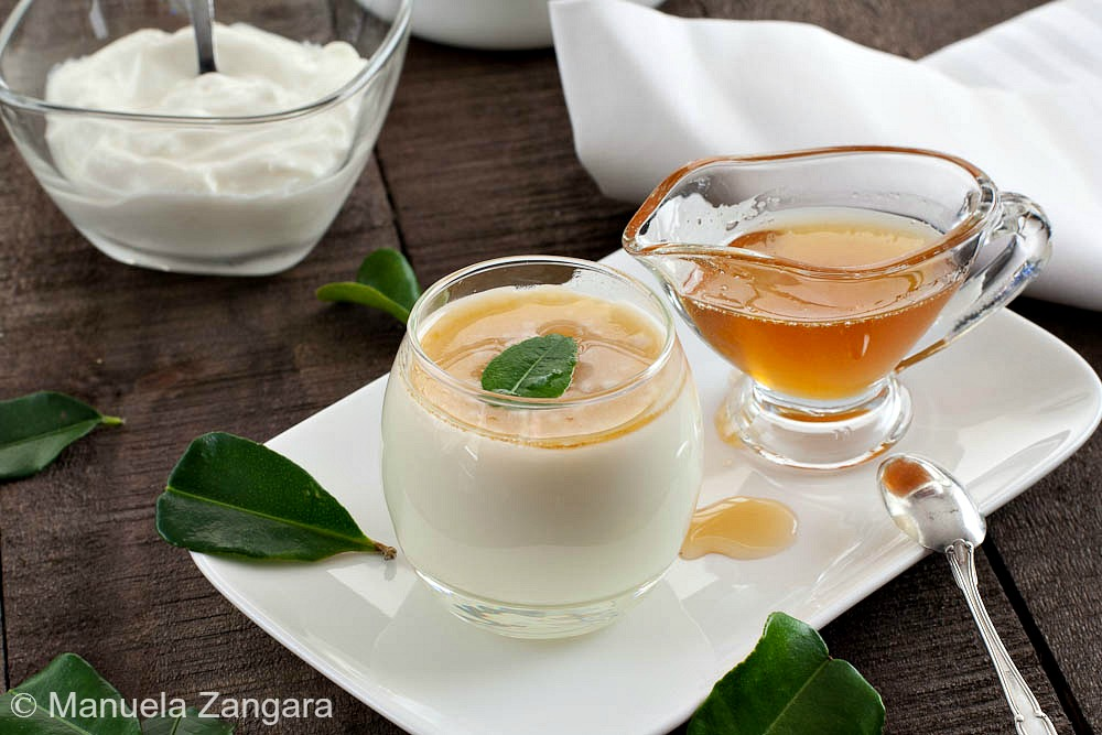 Kaffir Lime and Yogurt Panna Cotta