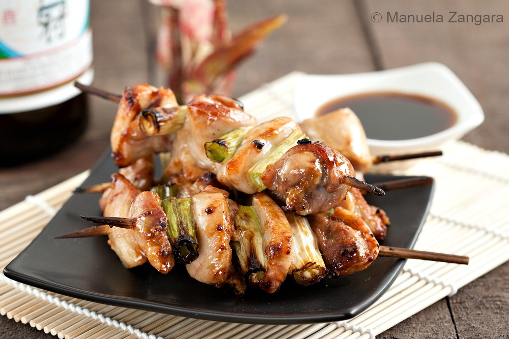 chicken yakitori with honey sauce yakitori japanese grilled skewered ...