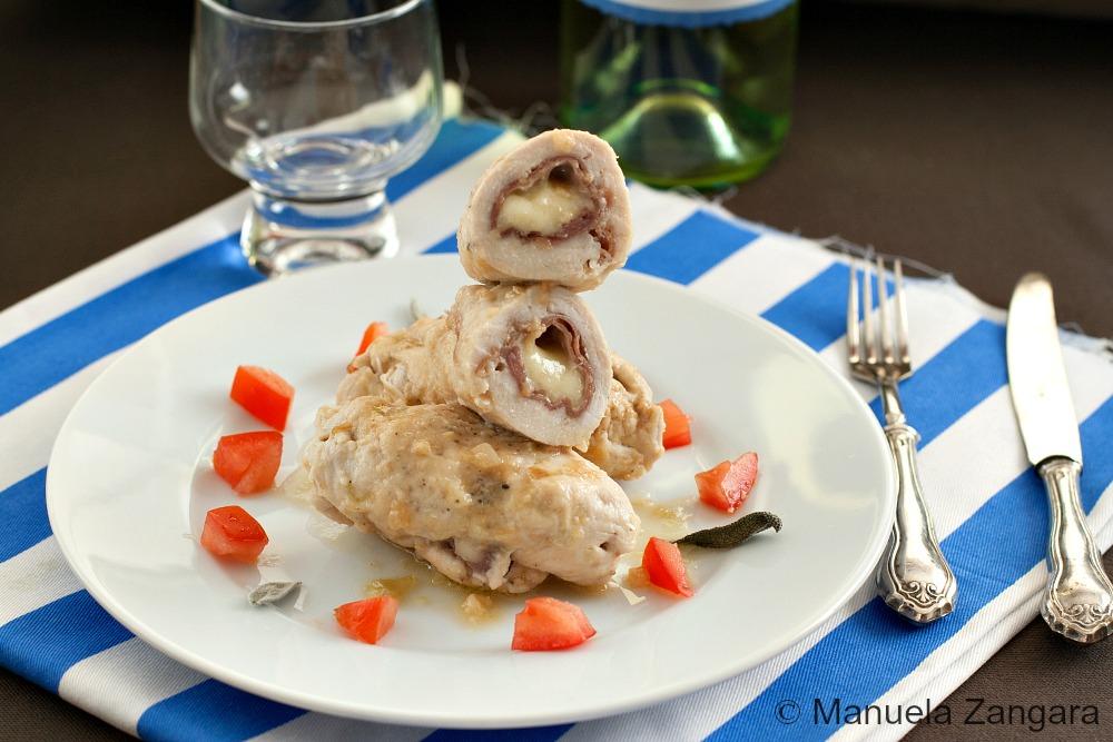 Chicken Involtini with Prosciutto and Fontina