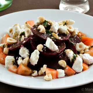 Beet and Goat's Cheese Salad with Mint Balsamic Vinaigrette