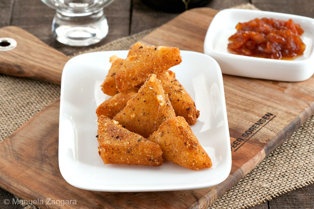 Fried Manchego with Tomato and Orange Blossom Jam