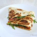 Piadina Romagnola with Mortadella and Stracchino