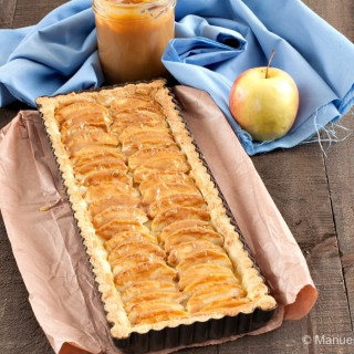 Apple and Dulce de Leche Tart