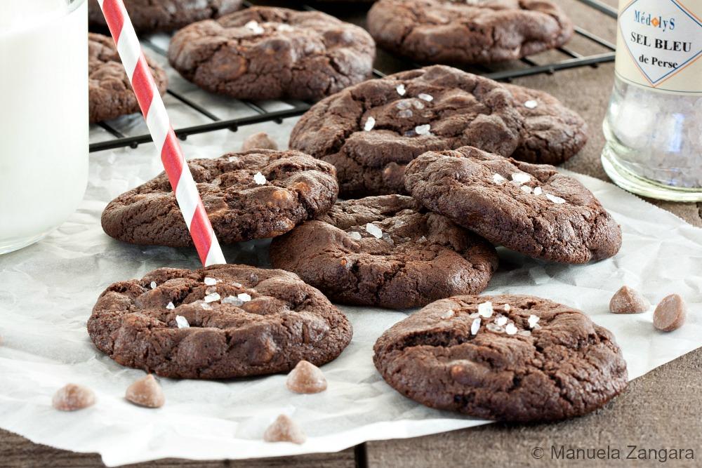 Salted Caramel Chocolate Cookies